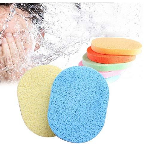 FOK Set Of 2Pcs Face Cleansing Sponge Puff Makeup Washing Pad Deep Cleansing  amp; Exfoliating Facial Sponge   Assorted Color