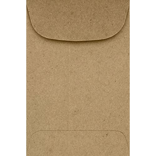#4 Coin Envelopes (3 x 4 1/2) - Grocery Bag Brown (50 Qty.) | Perfect for storing Small Parts, Coins, Jewelry, Stamps, Seeds, Small Electronic Parts and so much more! | 4CO-GB-50