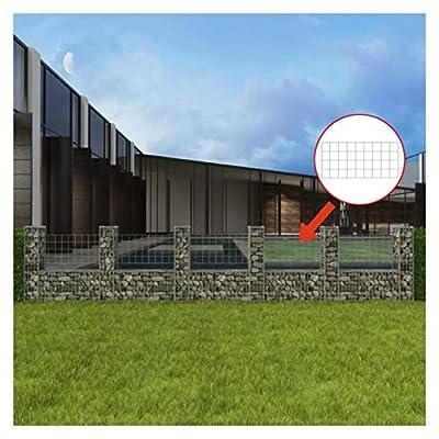 """HomyDelight Fence Panel, Gabion Basket U-Shape Steel 224.4""""x7.9""""x39.4"""""""