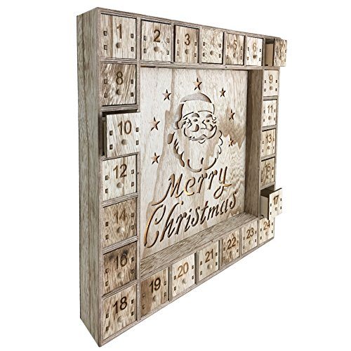 Wooden Christmas Advent Calendar with LED Lights by Shanghai Pioneer Effort Arts&Crafts Co.,Ltd (Image #2)