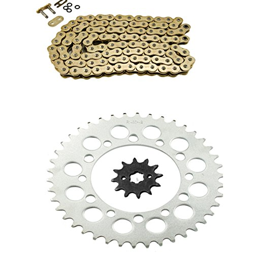 Sprocket Kit Type - Gold O-Ring Chain and Sprocket Kit for Honda TRX200 D Fourtrax Type II 1991 1992 1993 1994 1995 1996 1997