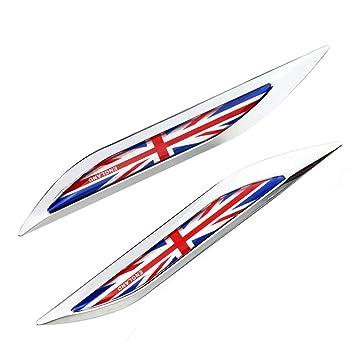 1 Par Inglaterra Bandera Emblema Insignia 3D Etiqueta de ...