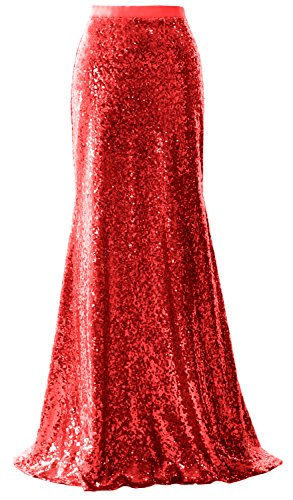 Sequin Dress Maxi Long Skirt MACloth Rot Wedding Mermaid Party Women Bridesmaid 5XwqxzR