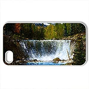 Angel Glacier - Case Cover for iPhone 4 and 4s (Mountains Series, Watercolor style, White)
