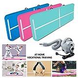 Hou Hai Airtrack -10ft/3.3ft Inflatable Air Track Tumbling Mat Electric Air Pump Cheerleading/Gymnastics/Home/Yoga/Training/Kids/Sport/Taekwondo/Game/Water Activities