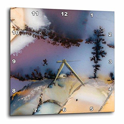 3dRose Nevada. Amethyst Sage Agate, Natural Pattern - Us29 Bja0049 - Jaynes Gallery - Wall Clock, 15 by 15-Inch (DPP_92201_3)