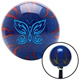 flame shifter knob - American Shifter Company ASCSNX1569953 Blue Fancy Abstract Butterfly Blue Flame Metal Flake Shift Knob M16 x 1.5 Insert