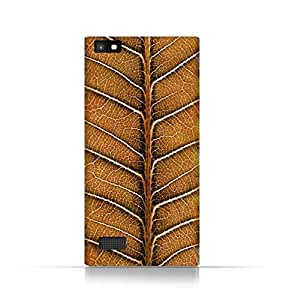 Blackberry Leap Z20 TPU Silicone Case With Natural Dried Leaf