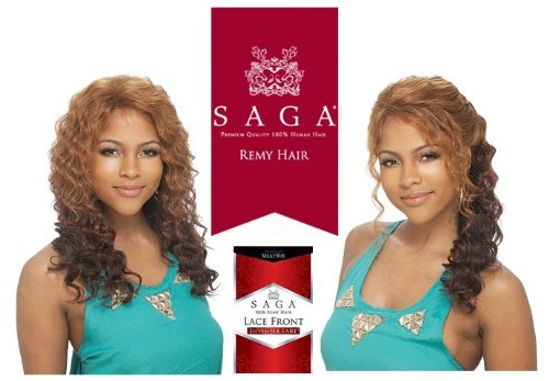 SAGA 100% REMY HUMAN HAIR LACE FRONT WIG - INVISIBLE PART - LEGEND - TP430