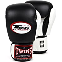 Twins Special Black & White 2-Tone Muay Thai Boxing Gloves BGVL-3 10-12-14-16 oz.