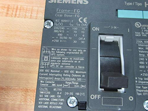 Siemens HFG3F250 250A Circuit Breaker: Amazon.com: Industrial & Scientific