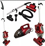 Unibos 2 in 1 Upright & HandHeld Bagless Compact Lightweight Vacuum Cleaner Multi Use Hoover In Hot Red - Stylish and Eye Catching Vacuum Ideal for Any Home or Office - Perfect for Christmas Gift