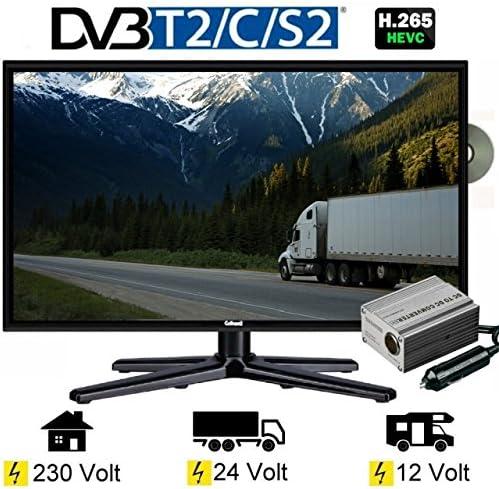 Gelhard GTV-2462 – Televisor LED (24 pulgadas, TV DVD DVB-S/S2/T/T2/C 230/24/12 V: Amazon.es: Electrónica