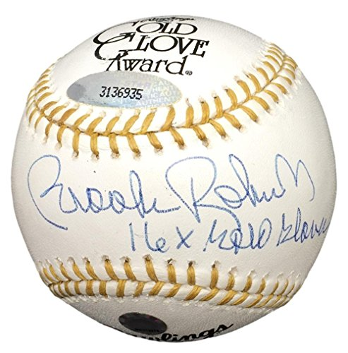 Inscribed Gold Glove (Brooks Robinson Baltimore Orioles Signed Gold Glove Baseball 16x Gold Glove Inscribed TriStar+MLB Holo)