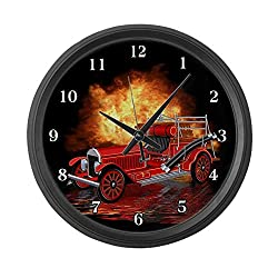 CafePress - 1920 Type 75 Pumper Fire Truck Large Wall Clock - Large 17 Round Wall Clock, Unique Decorative Clock