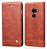 Febelo () Professional Design Magnetic Lock Flip Cover Case for Xiaomi Mi Mix 2 - (Brown)