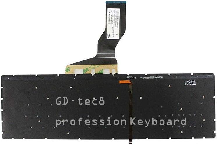 Laptop Keyboard Compatible for HP Envy 17-n105ng 17-n120nd 17-n104nl 17-n103no 17-n103ng 17-n125nd 17-n103nf 17-n104na 17-n116nb 17-n176nz 17-n109nf 17-n109na US Silver Backlit No Frame
