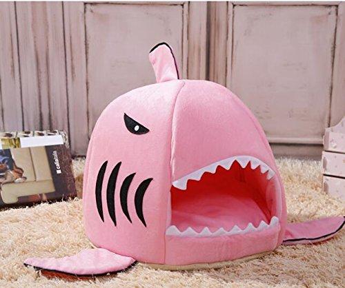 alta qualità OHlive Accogliente Lovely Animal Shark Bed Small Small Small Dog Cat Cave Bed Pet Beds Casa Morbido Cuscino Sacco a Pelo Regalo per Animale Domestico  benvenuto a scegliere