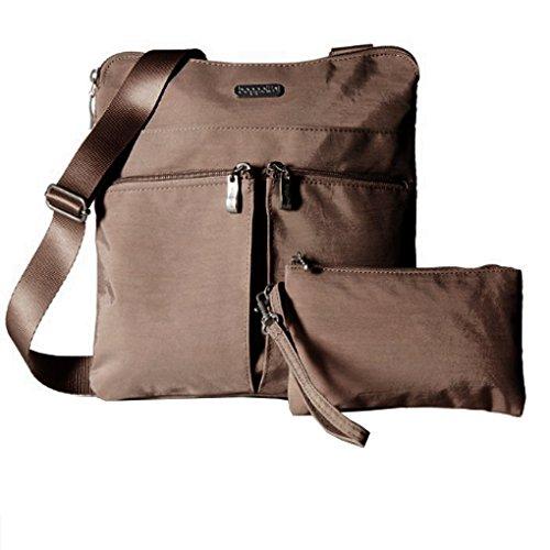 Bagg Cross Body Purse (Baggallini Horizon Crossbody Travel Bag, Mocha, One Size)