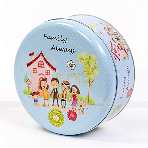 Astra Gourmet 1pc Adorable Family Always Cookie Tins Cookie Box, Extra Thick Steel(6.5