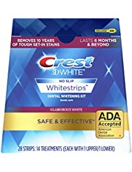 Crest 3D White Glamorous White Whitestrips Dental Teeth Whitening Strips Kit, 14 Treatments - Lasts 6 Months & Beyond (Packaging May Vary)