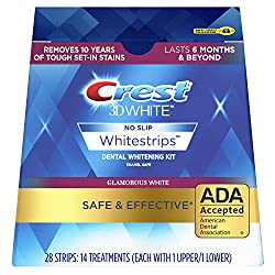 Crest 3D White Luxe Whitestrip Teeth Whitening Kit, Glamorous White, 14 Treatments, (Packaging May Vary)
