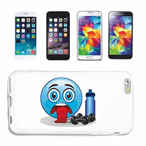 """cas de téléphone Samsung Galaxy S3 Mini """"SMILEY EPUISEMENT EN FITNESS STUDIO AVEC POIDS ET ENERGY DRINK """"sourire EMOTICON APP de SMILEYS SMILIES ANDROID IPHONE EMOTICONS IOS"""" Hard Case Cover Téléphone"""