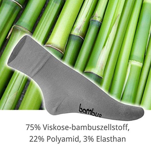 bambou Chaussettes paires chaussettes en pour longueur noir hommes 5 10 normale 10 en de bambou CqtBYX