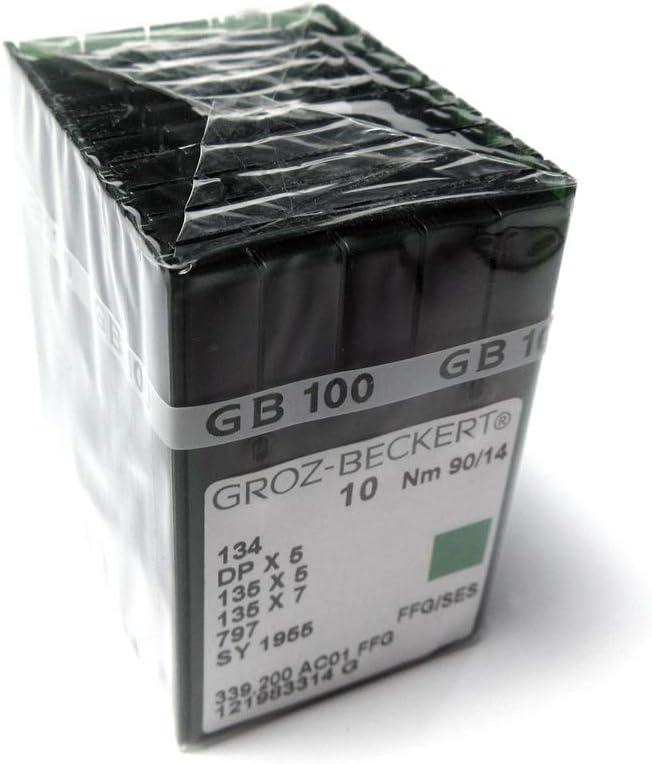 20 Nähnadeln GROZ BECKERT 134 DPx5 Stärke: Nm 100 DPx5, 135x5, 136x7, 797