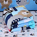 Wowelife-Animal-Baby-Crib-Sets-Blue-7-Piece-Monkey-Elephant-Lion-and-Giraffe-Crib-Bedding-Sets-Cotton-with-BumpersSea-Journey-7-Piece