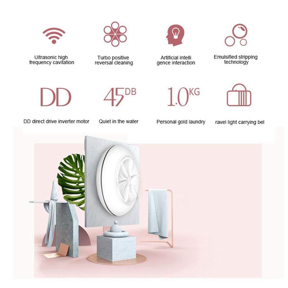 JXJ Limpiador Ultrasónico, USB Portátil Mini Limpiador Ultrasónico De Turbina, Desinfección Multifuncional Y Equipo De Esterilización, Adecuado para Viajes ...
