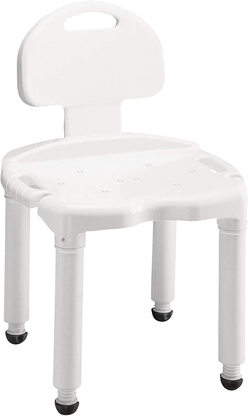 Carex Bath Seat And Shower Chair With Back For Seniors, Elderly, Disabled,  Handicap, and Injured Persons, Supports Up To 10lbs