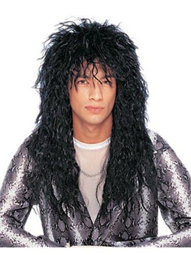Goddessey Unisex Heavy Metal Wig - Black Adult - Costume Ideas ()