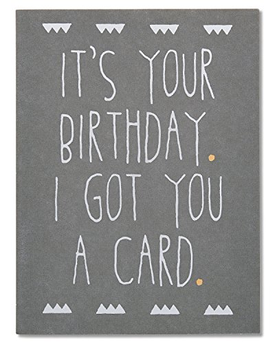 American Greetings Funny Got You A Card Birthday Greeting Card with Foil