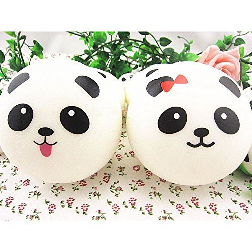 Squishy Jumbo Panda 10 Cm : 10cm Squishy Charms Buns Cell Phone Charm Kawaii Jumbo Panda Bag Unicorn Items