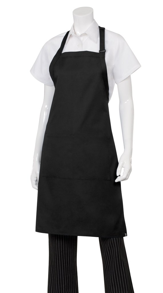 Chef Works Butcher Apron, Black 34-Inch Length by 24-Inch Width