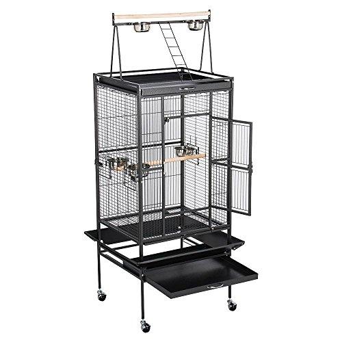 Yaheetech Parrot Bird Cage Playtop Cockatiel Cockatoo Birdcages 70