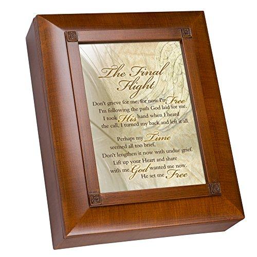 Cottage Garden Final Flight Don't Grieve for Me Woodgrain Remembrance Keepsake Box