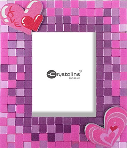 Crystaline Mosaic DIY Mini Table Top Picture Frame Kit - Kit-Love theme for small photo (1.5