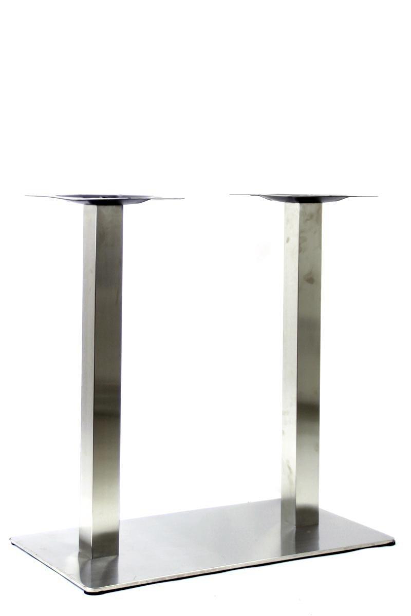 Tischgestell 105 cm, Tischfuß doppel, Edelstahl Gestell, rechteckiger rechteckiger rechteckiger Fuß,