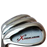 Left Handed Extreme X5 Men's Complete Golf Wedge Set: 52° Gap Wedge (GW), 56° Sand Wedge (SW), 60° Lob Wedge (LW) Regular Flex Steel Shaft
