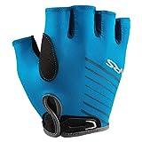 NRS Men's Half-Finger Marine Blue Paddling & Rowing 50+ UPF Boater's Gloves, M