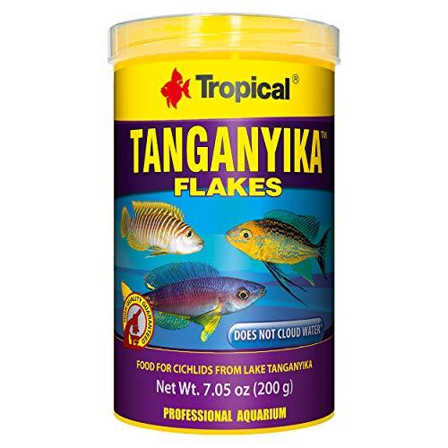 (Tropical USA Tanganyika Flakes Fish Food Tin, 200g )