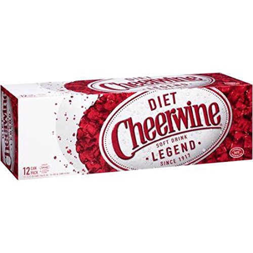 Diet Cheerwine Cherry Soda, 12 oz (24 Cans)