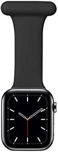 Vozehui Compatible with Apple Watch Band 38/40/42/44mm for Nurses Midwives Doctors Healthcare Paramedics Hikers, Soft Silicone Pin Fob for iWatch Series SE/6/5/4/3/2/1