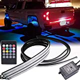 GTP Car Truck Underglow Underbody System Neon Strip RGB LED Light Strips Multi-Color Lighting Kit w/Sound Active Function and Wireless Remote Control 5050 SMD (36 & 24 inch)