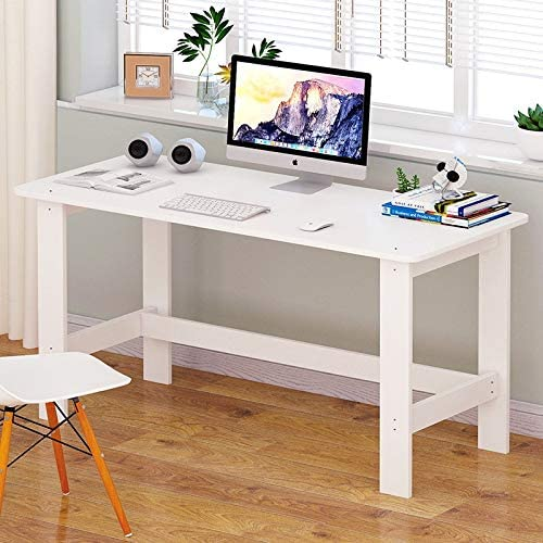 Prolriy Home Office Notebook Desk -Home Furniture-Workstation-Students Study Writing Desk -90x45x72 cm White