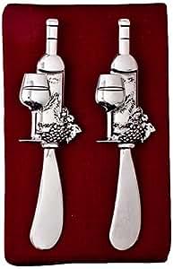 Thirstystone N186 Cheese Spreaders, Wine Bottle