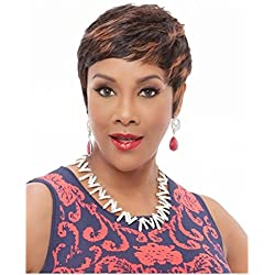 Vivica A. Fox HH-CARITA Express Wig, Half Wig, Synthetic Fiber in Color 1B