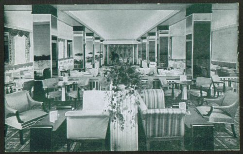 Pall Mall Room Hotel Raleigh Washington DC postcard - Raleigh Malls